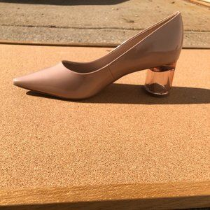 Kelly and Katie Maysa Pump Beige Faux Patent